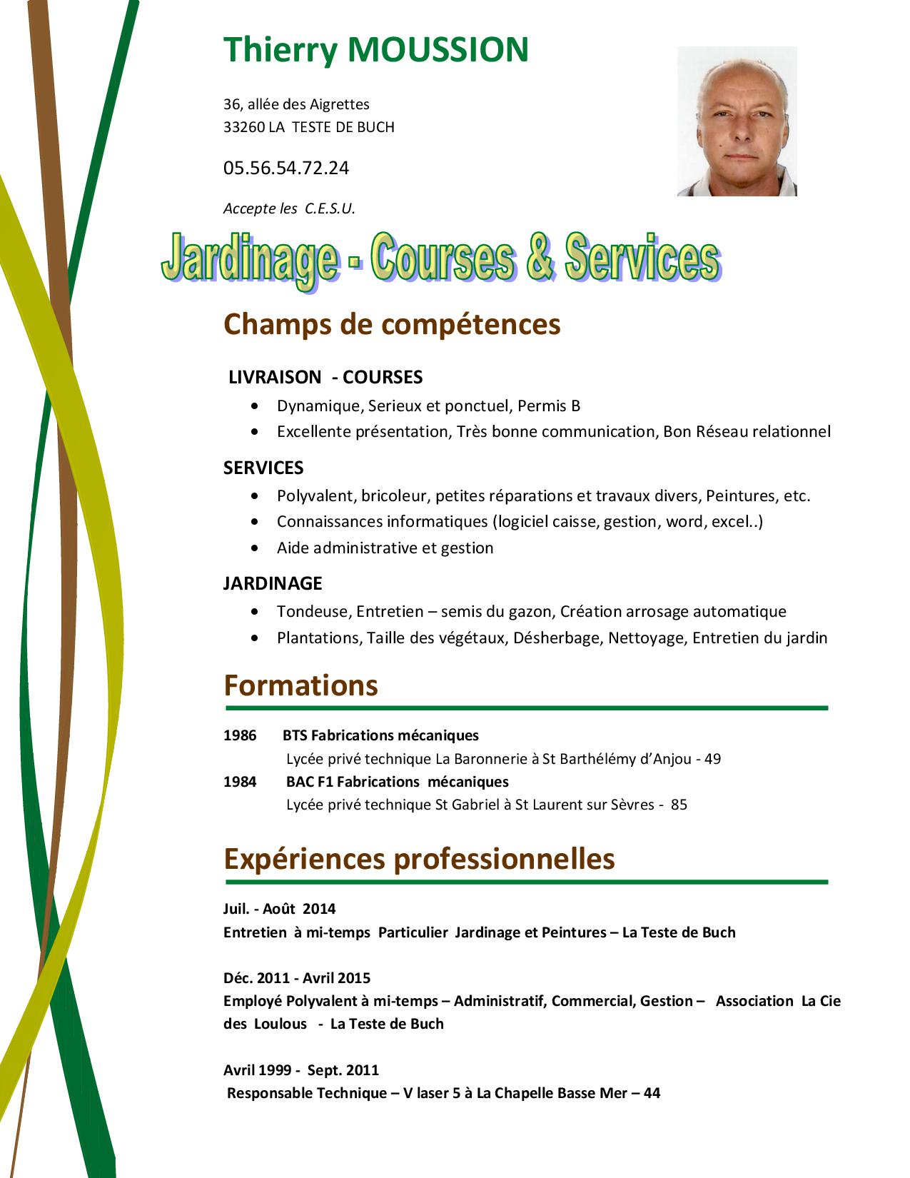 Moussion thierry jardinage for Jardinage a domicile tarif